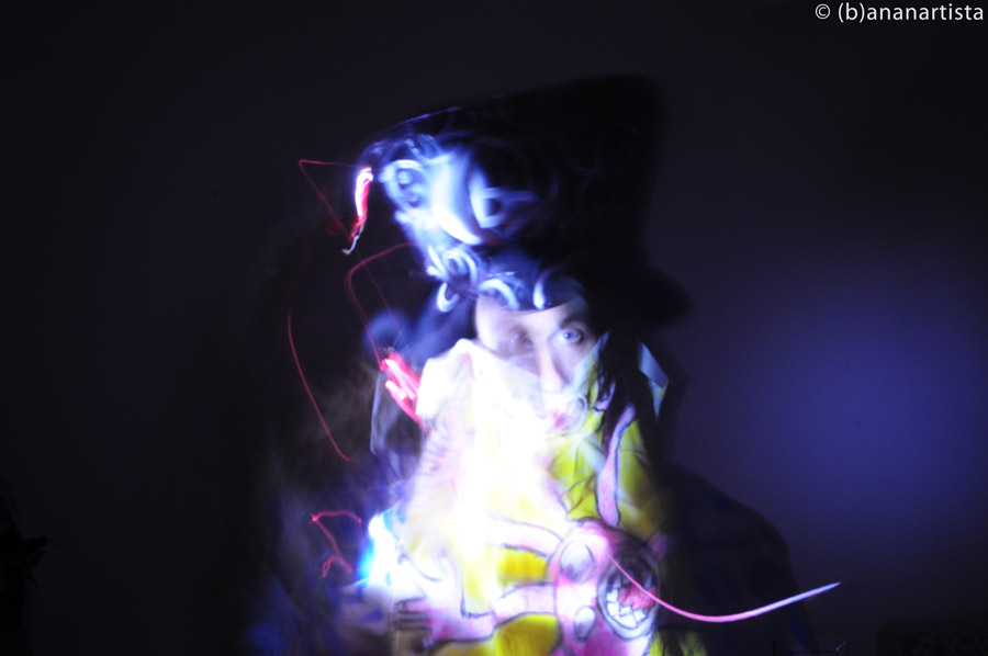 light painting selfportrait